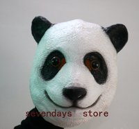 Wholesale giant masks for sale - Group buy Panda Latex Mask Chinese national treasure Giant Panda Mask Halloween Cosplay Costume Prop Festival Party Supplies Types