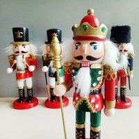 Wholesale puppet christmas ornament for sale - Group buy Christmas Ornaments Wooden Nutcracker Puppet Tin Soldiers Set of cm Small Wooden Man Holiday Gift