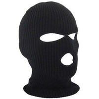 Wholesale balaclava face mask hole for sale - Group buy Full Face Cover Holes Balaclava Knit Hat Winter Stretch Snow Mask Beanie Hat Cap Windproof Warm Breathable Masks for Riding FT85