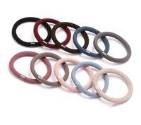 kit de ruban de couleur achat en gros de-Haute élasticité cheveux rugueux anneau de cheveux ornement simple coiffe de cheveux colorés coiffe