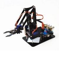 Wholesale toy semi for sale - Group buy Diy Acrylic Robot Arm Robot Claw Arduino Kit dof Toys Mechanical Grab Manipulator Diy Y190604