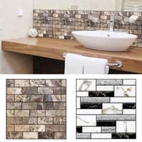 azulejos autoadhesivos para paredes. al por mayor-1 X (30 x 30 cm Autoadhesivo Azulejo etiqueta de la pared 3D Decal DIY piso cocina hogar)