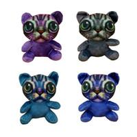 чучело кошки большие глаза оптовых-Большие глаза Cat 7 дюймов высокого качества мультфильм гусь Плюшевые куклы Cute Cat Плюшевые куклы Мягкие животные Мягкие игрушки плюшевые подарки для детей