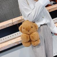 Wholesale rock toys resale online - Distinctive2019 Lint Ins Toys Children Single Shoulder Package Lovely Cartoon Girl Student Baby Bear Chain Messenger Packet