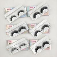 Wholesale natural messy eyelashes resale online - Fluffy Messy Eyelashes Mink Lashes Handmade Short Natural False Eyelashes Makeup Fake Eyelashes