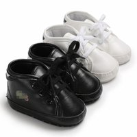 ingrosso scarponi da bambino-Infant Kids PU shoes Scarponi da bambino primi camminatori Toddlers Suola morbida invernale calda