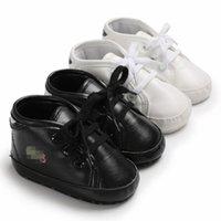 зимняя обувь для малышей оптовых-Infant Kids PU обувь Детские первые ходунки сапоги Младенцы мягкая подошва зимние теплые кроссовки