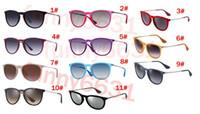 moda sol rojo al por mayor-Mujer de verano gafas de conducción al aire libre playa de la moda gafas de sol gafas de sol 11colors de metal negro montar sunglasse rosa rojo envío gratis