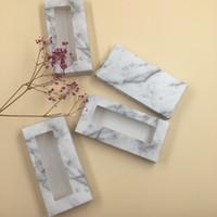 pestañas fáciles al por mayor-Rectángulo Caja de papel de pestañas suaves Pestañas de visón 100% reales Pestañas vacías Embalaje Caja personalizada Logotipo privado G-EASY