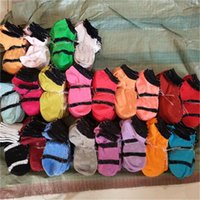 chaussettes de baseball rose achat en gros de-Rose Noir Gris Garçons Filles Chaussettes De Football Pom-Pom girls Basketball Extérieur Sports Adulte Chaussettes À La Cheville De Taille Libre Multicolores