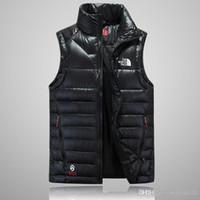 chalecos de moda para hombre al por mayor-Envío gratis THE Fashion Classic brand men's invierno abajo chaleco de plumas weskit chaqueta casual de hombre chaleco down jacket chaqueta de hombre cara