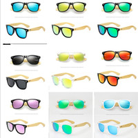 Wholesale wood legs sunglasses for sale - 2019 Summer Retro Vintage Bamboo Sunglasses Wood Legs Sun Glasses Women Men Teenages Beach Outdoor Sports Colored Polarized Glasses A41906