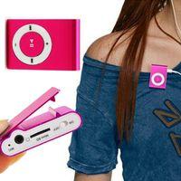 musica deportes mp3 al por mayor-1000 UNIDS Reproductor de MP3 portátil Mini Clip Reproductor de MP3 música deportiva impermeable walkman lettore