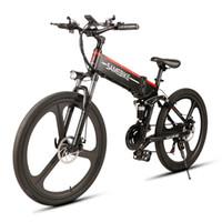 bisiklete binme diski toptan satış-SAMEBIKE LO26 Akıllı Katlanır Elektrik Bisiklet LCD Ekran 26
