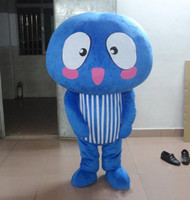 Wholesale baby cartoon customs for sale - Group buy Blue mushroom Mascot Costumes Animated theme mushroom baby fungus Cospaly Cartoon mascot Character Halloween Carnival party Costume