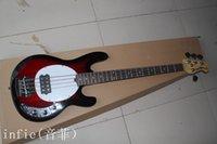 guitarra de cuerda superior al por mayor-Envío gratis Top qulity Nuevo estilo 4 cuerdas Madera natural RED OIP bajo eléctrico precio más bajo mejor calidad