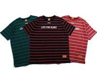 neu gedruckte t-shirts großhandel-Mens New Popular Tops 2019 Sommer Männer Kurzarm Schwere T-shirt Männer Baggy Hip-Hop Oversize Gestreiften Druck Frauen Mode T-shirts