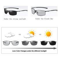 Wholesale mens night sunglasses resale online - Aoron Photochromic Polarized Sunglasses Polarized Sunglasses Night Vision Mens Driving Sun Glasses Driver Safty Goggles Uv400 Aoron xOcyz