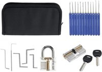 18 Transparent Locksmith Tools Practice Lock Kit With Broken Key Extractor Wrench Tool Removing Hooks Hardware Lock Picks Locksmith tools
