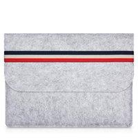 bolsa de laptop protetora venda por atacado-MacBook Air Woolfelt caso capa protetora para Apple Macbook Air Pro Retina 11 13,3 polegadas, sacos luva do portátil para 11.6inches mac