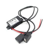 usb-ladegerät-modul großhandel-CPT Auto Ladegerät DC Konverter Modul Adapter 12V auf 5V 3A 15W Spannungsabsenkung mit Dual USB A Buchse Micro USB Kabel EEA229