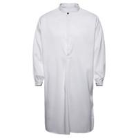 moda casual islâmica venda por atacado-MUQGEW 2019 moda camisas de vestido dos homens longos dos homens Outono Muçulmano Ocasional Thobe Islâmico Árabe Vestuário Camisa de Manga Longa Top # G4