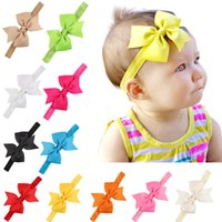 Wholesale christmas hair accessory handmade for sale - Group buy American bow children s hair band handmade baby stretch headband hair accessories