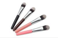 Wholesale rouge make up resale online - hot sale Makeup Brushes Cosmetics Make up Blush Rouge Brush Bulk Plastic Long Handle powder Makeup brushes Tools Accessories