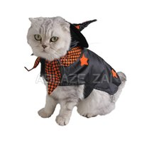 hacer traje de cerdo al por mayor-Traje del animal doméstico gato de invierno negro fresco británico cálido abrigo a cuadros traje de Halloween, material de poliéster, la ropa del gato