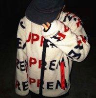 doble vellón al por mayor-18FW Logo Impreso Reisible Fleece Chaqueta Fleece Barrage de doble cara Retro High Street Hombres y Mujeres Parejas Chaqueta Cálida HFSSJK139
