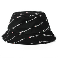 Wholesale wool bucket hat men for sale - Group buy Good Sale Champion Bucket Hat For Men Women Foldable Caps Black Fisherman Beach Sun Visor Sale Camping Fishing Hunting