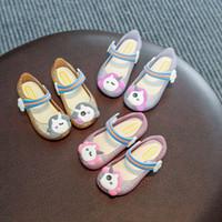 zapatos de gelatina pu melissa al por mayor-Niñas Mini Melissa LED unicornio sandalias de verano luces luminoso de la jalea de la historieta calza los zapatos de la princesa de los niños del niño de baño de la playa Zapatillas A51303