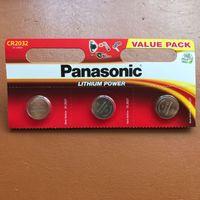 3v münz-lithium-batterien großhandel-3 x Panasonic CR2032 3V Lithium Knopfzellenbatterie DL / BR 2032