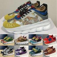 ayakkabı tabanları için kauçuk toptan satış-Yeni Zincir Reaksiyonu Mens Lüks ayakkabı Marka Tasarımcısı Sneakers Bayan Eğitmen Rahat Ayakkabılar Hafif Zincir bağlantılı Kauçuk Taban