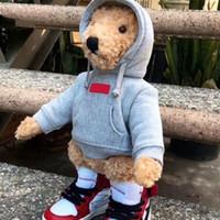 brinquedos venda por atacado-FW18 LOGOTIPO DE CAIXA X S e e e f f Urso Bonecos de Pelúcia Bonecos de Brinquedo C a pe semana HFLSWO002