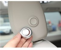 Wholesale land rover for sale - Group buy ABS Chrome Head Pillow Adjustment Button Cover Trim For Land Rover Discovery Car Accessories