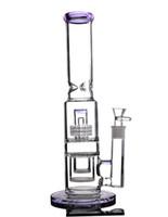 ingrosso ciotola viola di nozze-15,7 pollici tubo dritto bong rosa vetro acqua bong tubo di fumo alto big beaker bong con 18mm ciotola comune viola narghilè shisha