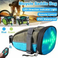 Wholesale bike lights kit for sale - Group buy Bicycle Light Wireless Remote Control Led Light Emitting Warning Steering Kit Tail Pack Riding Bag Bike