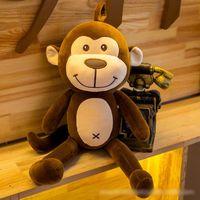 animais de pelúcia de pelúcia venda por atacado-Macaco de pelúcia boneca brinquedos crianças de pelúcia macia brinquedos bonitos presentes braço longo colorido macaco Stuffed Animal Boneca Nova