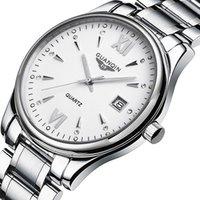 relógios de pulso mais legais venda por atacado-Atacado GQ80019 Homens Negócios Legal À Prova D 'Água Luminosa Relógio de Quartzo Dobrável Ponteiro Mostrador À Prova de Choque À Prova de Choque de Quartzo relógios de Pulso