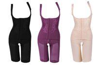 esculpir el cuerpo para las mujeres al por mayor-De alta calidad de las mujeres de nylon delgado corsé trajes para adelgazar Body Shaper Carbón esculpir la ropa interior 5 Tamaño adelgazar la ropa interior