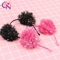 Wholesale cn fashion for sale - Group buy CN Princess Sequins Lace Hair Bands For Girls Kids Handmade Star Flower Organza Headband Fashion Hair Accessories