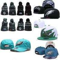 águila bordada al por mayor-2020 Philadelphia Eagles Gorros de invierno sombreros hombres mujeres ajustable logotipo bordado equipo Snapback de todo el equipo de Wholeasle Knit Caps calientan al aire libre