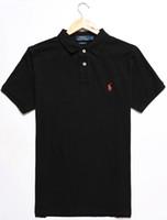 ingrosso usa camicie sportive-Commercio all'ingrosso 22COLOR 100% cotone UOMO estate vendita calda Polo Shirt Stati Uniti d'America bandiera Polo uomini manica corta Polo Sport 309 # Man Coat