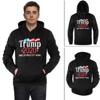 sudadera america al por mayor-Hombres Mujeres Donald Trump 2020 Sudadera Con Capucha Unisex Sudaderas Con Capucha M-2XL Pullover Make America Great Again Home Clothing AAA1513