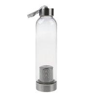 wärmender wasserbeutel großhandel-Glas-Sport-Wasserflasche mit Teefilter-Infuser-Schutzbeutel 550ml C19041601