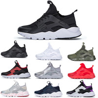 Wholesale pink huaraches resale online - Classical Huarache Designer Shoes Triple White Black Gym Red Army Green Brand Mens Womens Huaraches Spikes Track Utility Chaussures