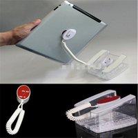 ingrosso supporto astuccio acrilico-(10 pz / lotto) Auto assemblare materiale acrilico vetroso adesivo tablet pad fisso universale antifurto stand di blocco