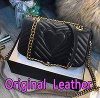 bolso del cuero genuino envío libre al por mayor-Envío gratis bolsa de Marmont bolsos de lujo de alta calidad famosas marcas bolsos de diseñador bolsos de las mujeres bolsos de hombro de cuero genuino