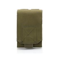 сумочка для телефона оптовых-6 Inch Outdoor Camping Camo Phone Waist Bag Men Camouflage Pouch Mobile Phone Case Oxford Cloth Waist Bag